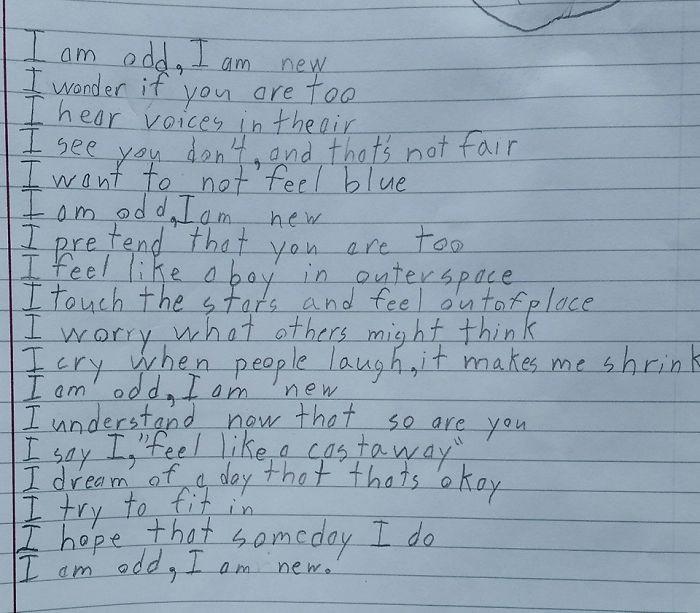 10χρονος με αυτισμό γράφει το πιο συγκινητικό ποίημα για το τι πραγματικά βιώνει