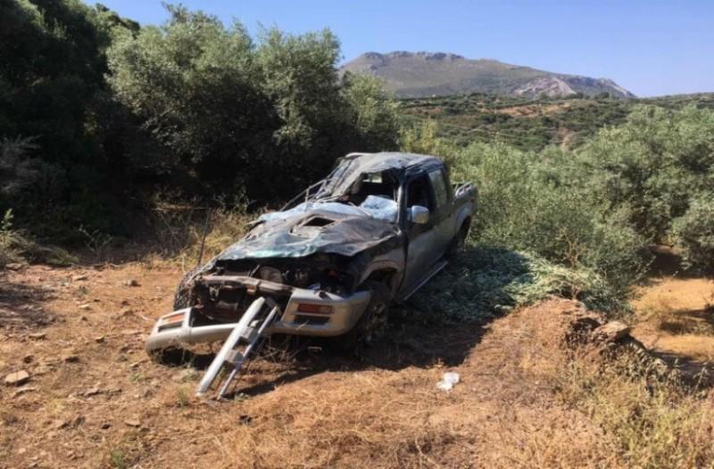 Λακωνία: Αγροτικό έπεσε σε χαράδρα!