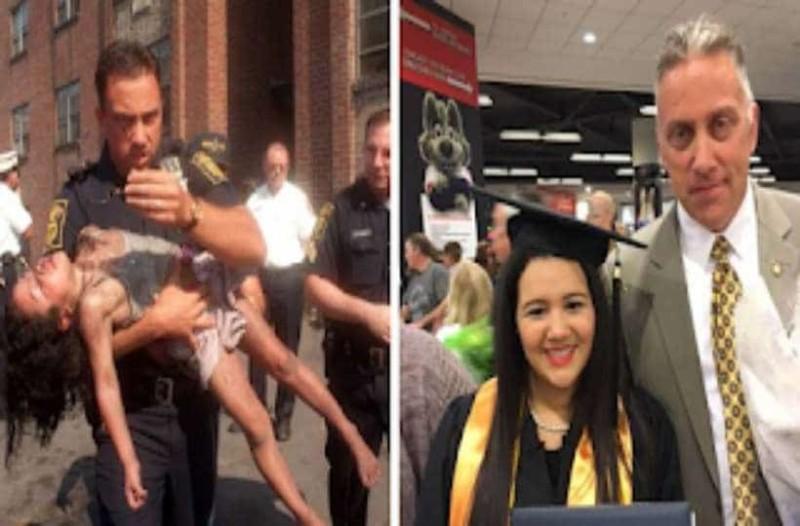 Πυροσβέστης έβγαλε 5χρονο κoριτσάκι από τις φλόγες και 20 χρόνια μετά πήγε στην αποφοίτηση του!