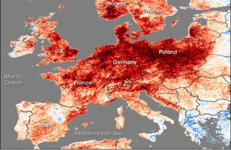 Καύσωνας στη βόρεια Ευρώπη, βροχές στη Ελλάδα! Τι συμβαίνει;
