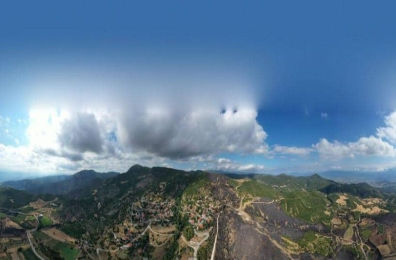 Φωτιά στην Δίβρη: Εικόνες από ψηλά δείχνουν το μέγεθος καταστροφής! (Video)