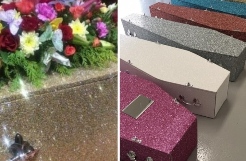 Φέρετρα με γκλίντερ: Λαμπερό γάμο έχουμε ακούσει...Λαμπερή κηδεία;
