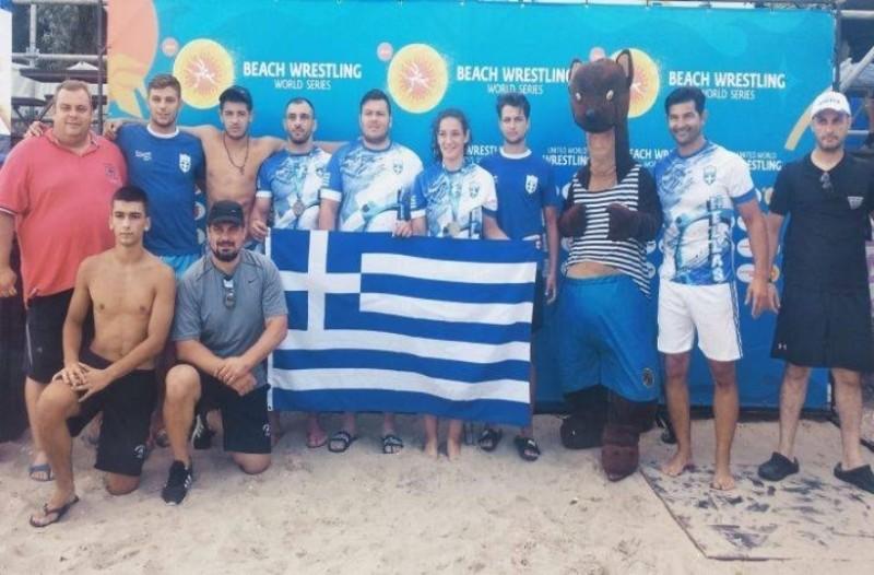 Δύο μετάλλια η Ελλάδα στο Παγκόσμιο πρωτάθλημα Πάλης στην Άμμο!