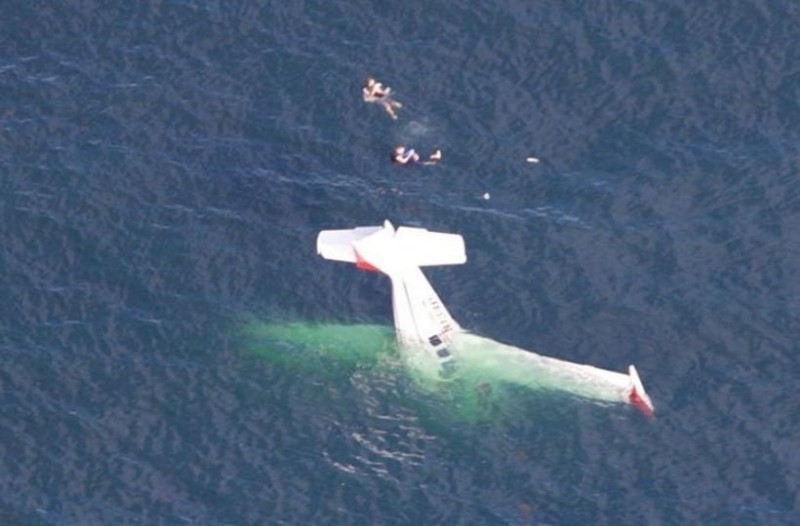 Σοκ: Αεροπλάνο έπεσε στην θάλασσα! (Video)