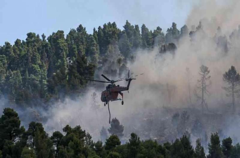 Πυρκαγιά στην Εύβοια: Στις φλόγες το δάσος  Natura, προς εκκένωση δύο χωριά!