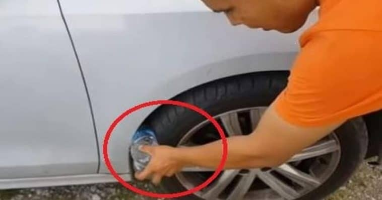 Προσοχή: Αν δείτε μπουκάλι στη ρόδα αυτοκινήτου πηγαίνετε στην αστυνομία!