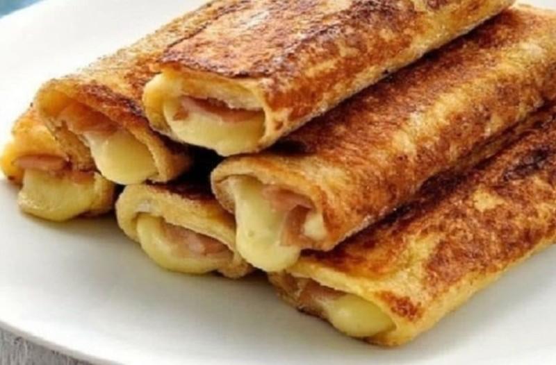 Υπέροχες αυγοφέτες με ζαμπόν και τυρί!