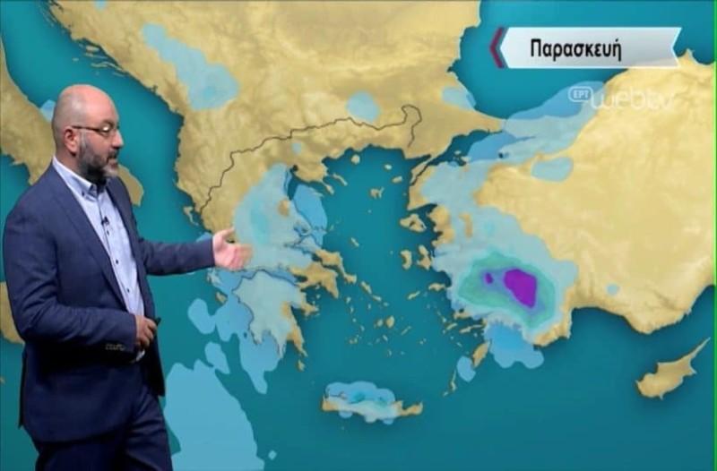 Σάκης Αρναούτογλου: Τοπικές μπόρες, καταιγίδες και δυνατά μελτέμια στην Ελλάδα! (Video)
