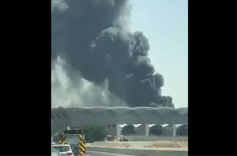 Φωτιά σε σιδηροδρομικό σταθμό στην Σαουδική Αραβία! (Video)