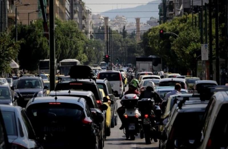Απίστευτη κίνηση στους δρόμους της Αθήνας! Που εντοπίζονται προβλήματα;