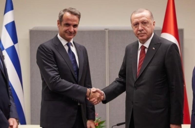 Ολοκληρώθηκε η συνάντηση Μητσοτάκη- Ερντογάν!