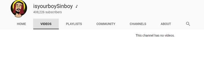 Ο SinBoy διέγραψε όλα τα τραγούδια του!
