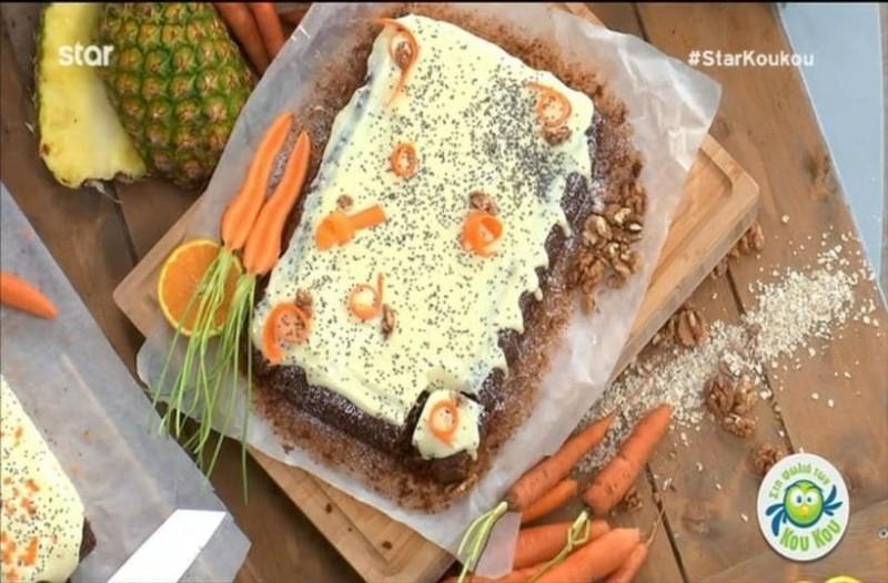 Κέικ βρώμης με καρότο και σπόρους chia! (Video)