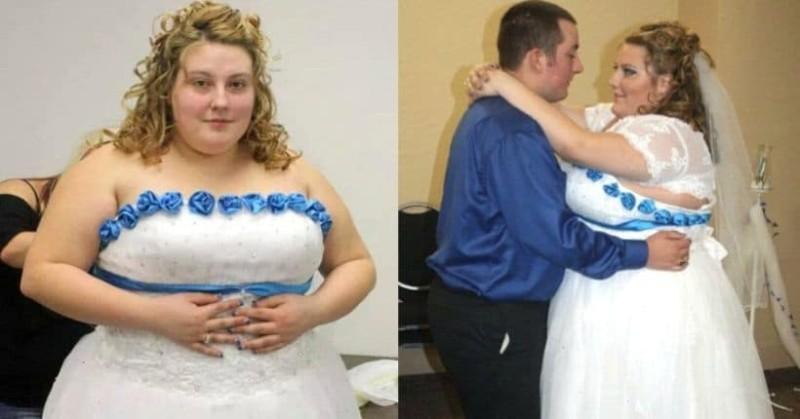 Στον γάμο της δε χωρούσε στο νυφικό της, αποφάσισε να αδυνατίσει, έχασε 90 κιλά και έγινε μια κούκλα!