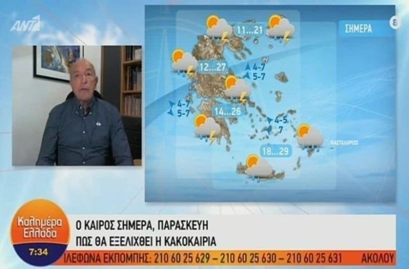 Τάσος Αρνιακός: Θα συνεχιστούν τα ισχυρά φαινόμενα! Ποιες περιοχές θα επηρεαστούν; (Video)