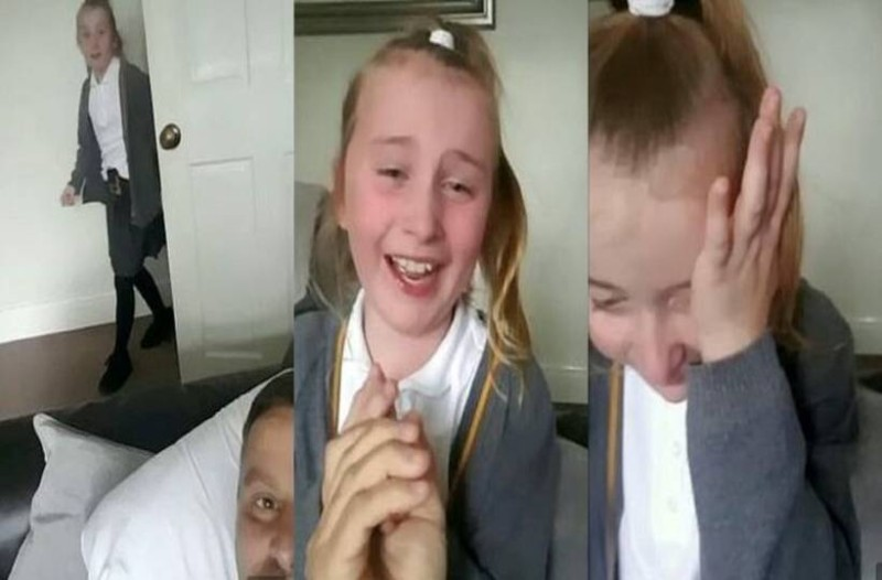 Πατέρας ανακοινώνει στην 8χρονη κόρη του πως κέρδισε τον καρκίνο και η αντίδρασή της μας κάνει να δακρύσουμε