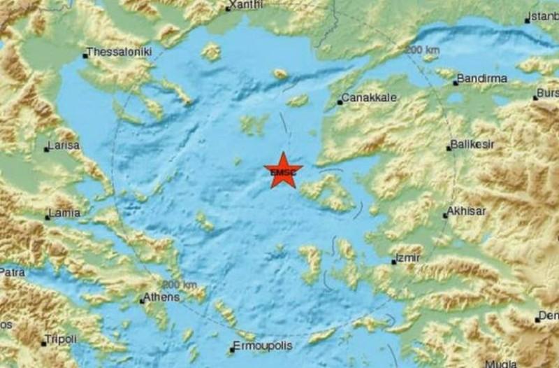 Δυνατός σεισμός στην Μυτιλήνη!