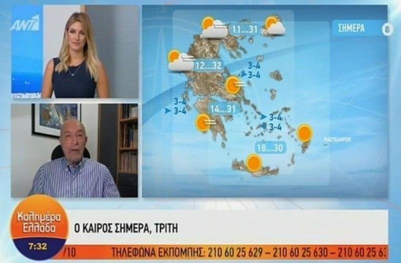 Τάσος Αρνιακός: Προάγγελος ο καλοκαιρινός καιρός για το χειμώνα που έρχεται τον...! (Video)