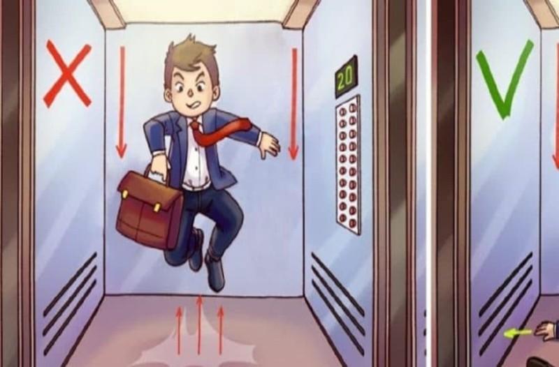 Δείτε τι πρέπει να κάνετε για να βγείτε ζωντανοί από ένα ασανσέρ που πέφτει σε ελεύθερη πτώση! (Video)