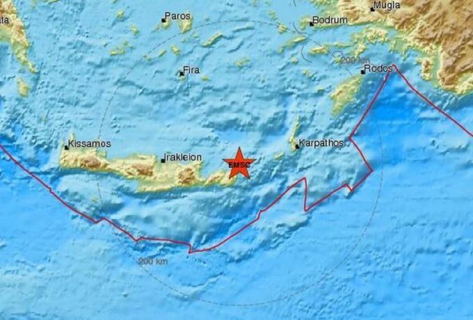 Σεισμική δόνηση στην Κρήτη!