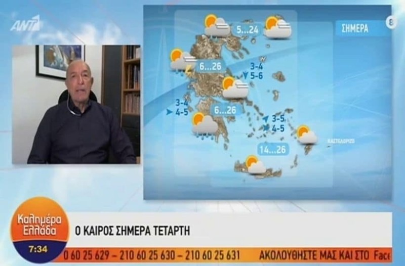 «Καμπανάκι» από τον Τάσο Αρνιακό: Χαλάει ο καιρός! Βροχές και πτώση της θερμοκρασίας! (Video)