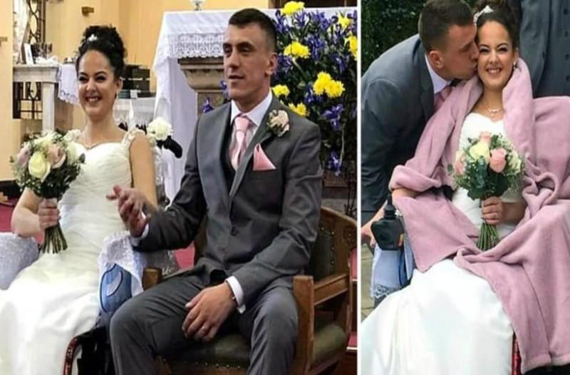 Καρκινοπαθής νύφη με 18 μήνες ζωής παντρεύεται τον έρωτα της ζωής της!