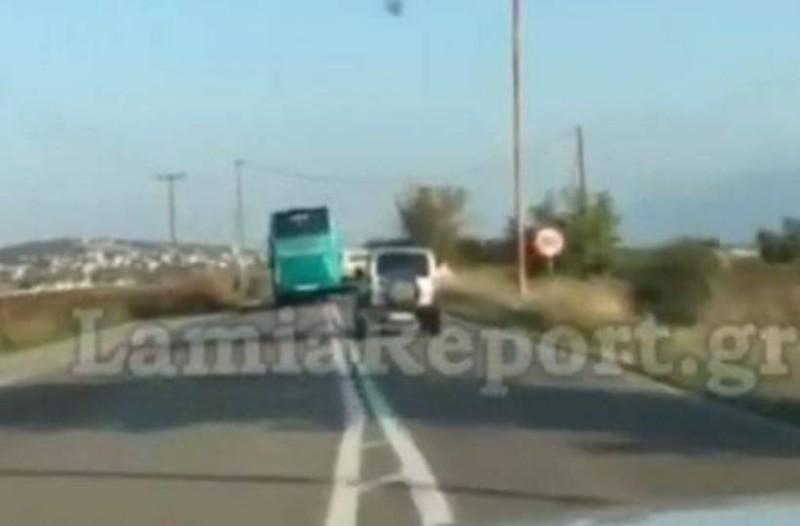 Λαμία: Οδηγός του ΚΤΕΛ την... είδε Σουμάιχερ! Οι επικίνδυνες προσπεράσεις που σοκάρουν (video)