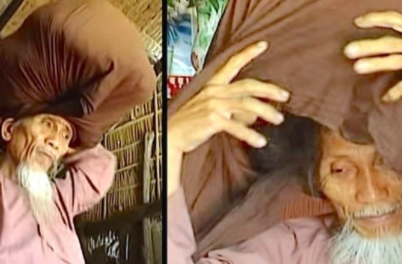 Δεν έχει κόψει τα μαλλιά του εδώ και 48 ολόκληρα χρόνια. Προσέξτε τώρα τι θα γίνει μόλις βγάλει το μαντίλι! (Video)