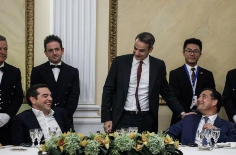 Το ιστορικό στιγμιότυπο με Τσίπρα, Μητσοτάκη και Άδωνι να γελούν παρέα!