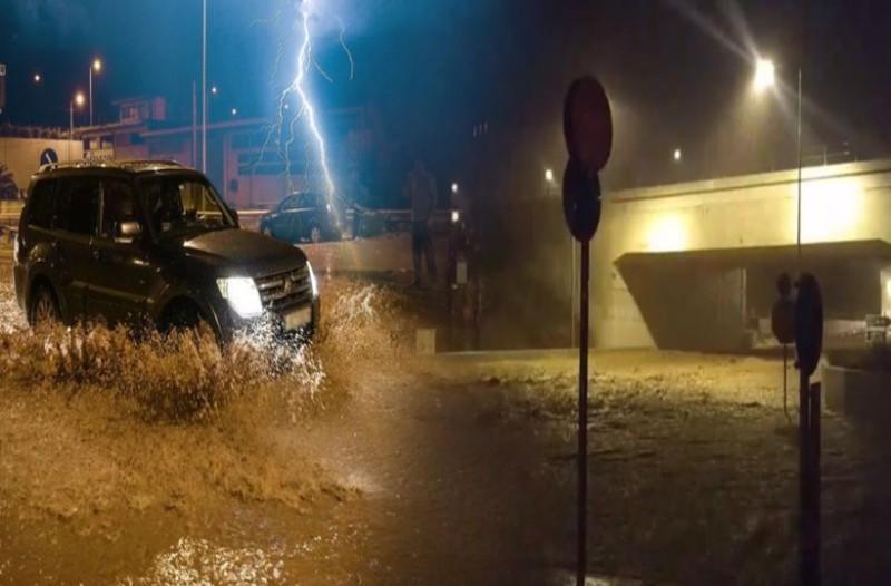 Κακοκαιρία Γηρυόνης: Έκλεισε η εθνική οδός! (Video)