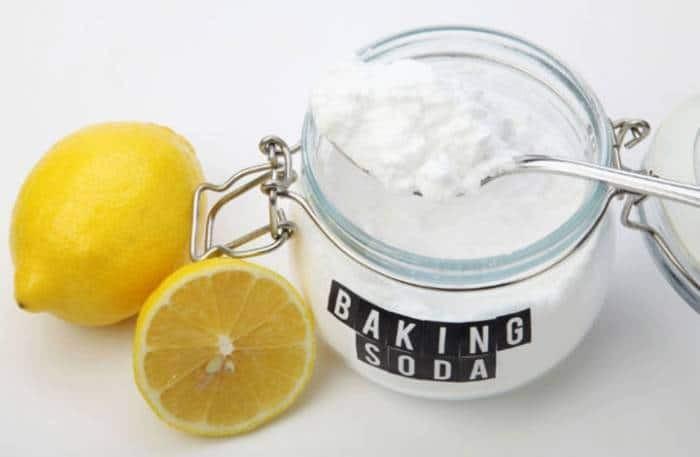 μαγειρική σόδα με λεμόνι