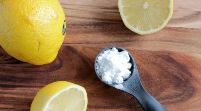 λεμόνι με μαγειρική σόδα