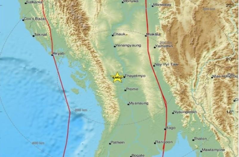 Ισχυρός σεισμός στην Μιανμάρ! (photo)