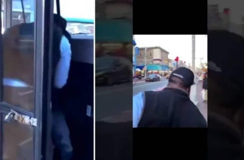 Ένας οδηγός λεωφορείου έδιωξε με τις κλωτσιές και τη βία έναν μαθητή... Δείτε τι ακολούθησε! (Video)