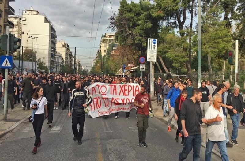 Πολεμικό κλίμα έξω από την ΑΣΟΕΕ! Οι φοιτητές πραγματοποιούν πορεία στην Πατησίων! (Video)