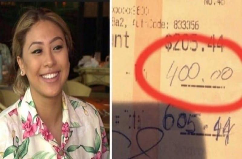 Σερβιτόρα τρέχει να ευχαριστήσει ζευγάρι που της άφησε 400$ πουρμπουάρ - Τότε το ζευγάρι κάνει κάτι ακόμη πιο συγκλονιστικό!