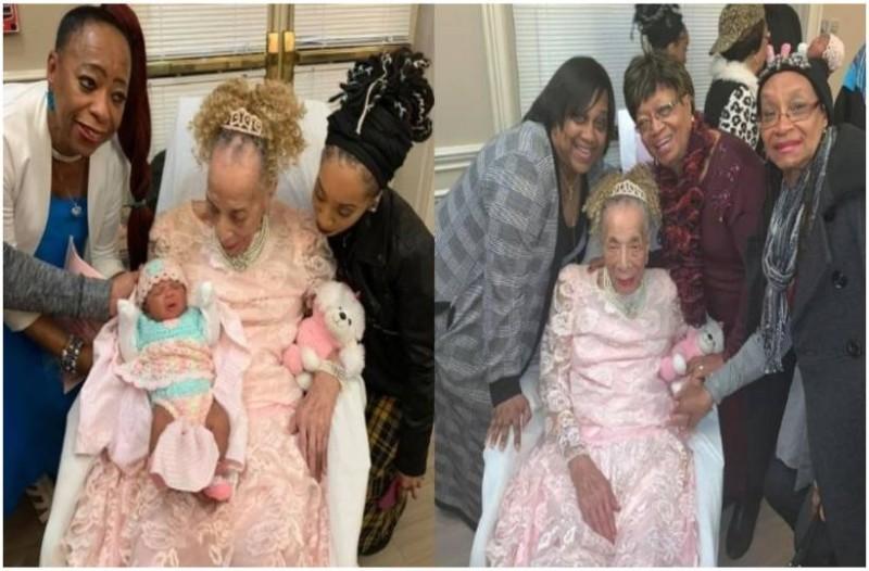 Αυτή η γλυκιά γιαγιά 105 ετών βλέπει για πρώτη φορά τα τρισέγγονα της και αυτό που συμβαίνει είναι πολύ συγκινητικό!