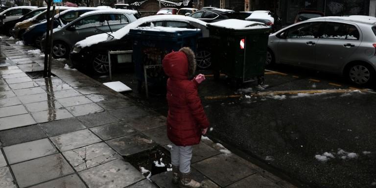 Καιρός Γιάννης Καλλιάνος παιδί χιόνια