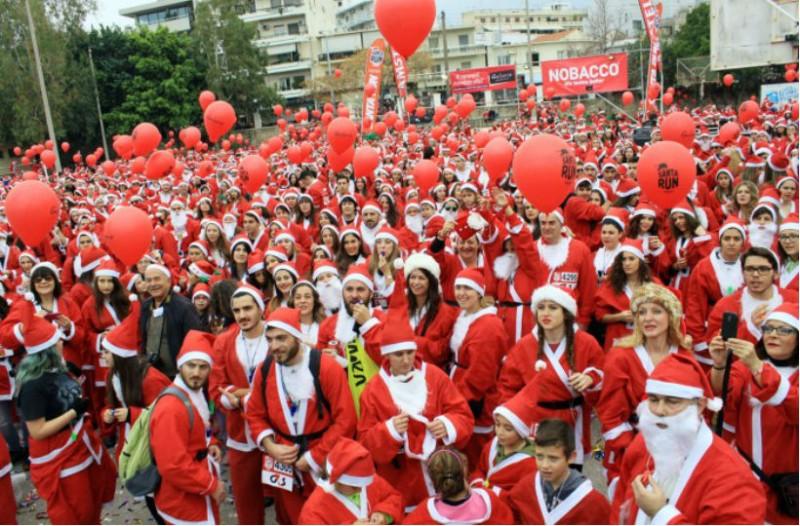 Έρχεται το 6ο Santa Run! Η Αθήνα θα ντυθεί στα κόκκινα για καλό σκοπό!