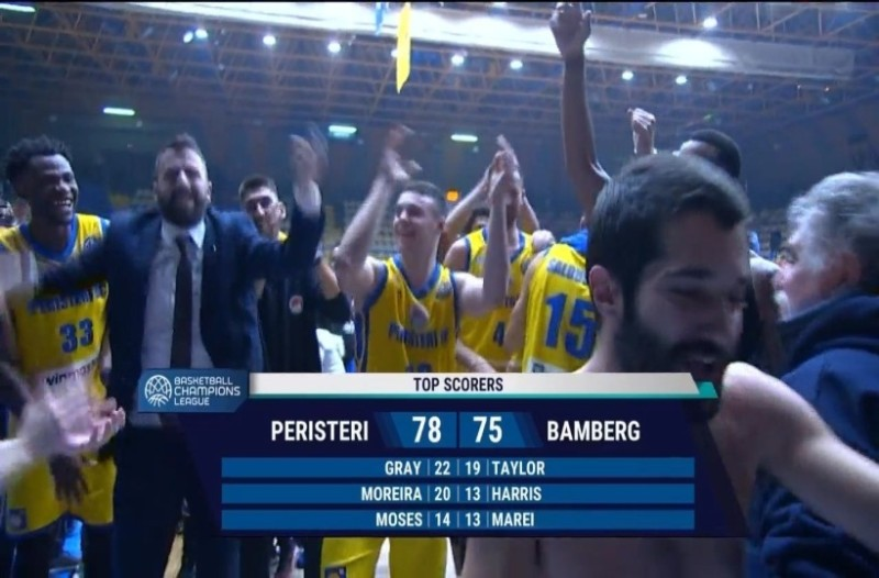Basketball Champions League: «Πέταξε» για τους 16 το Περιστέρι! (Video)