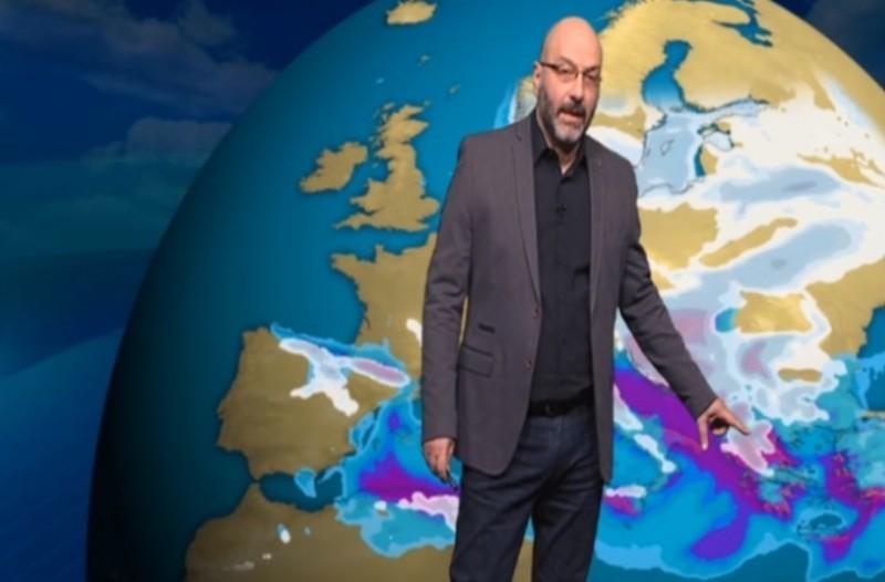 Ο Σάκης Αρναούτογλου προειδοποιεί: Η πιο ψυχρή χώρα της Ευρώπης θα είναι η Ελλάδα από 13 Ιανουαρίου!