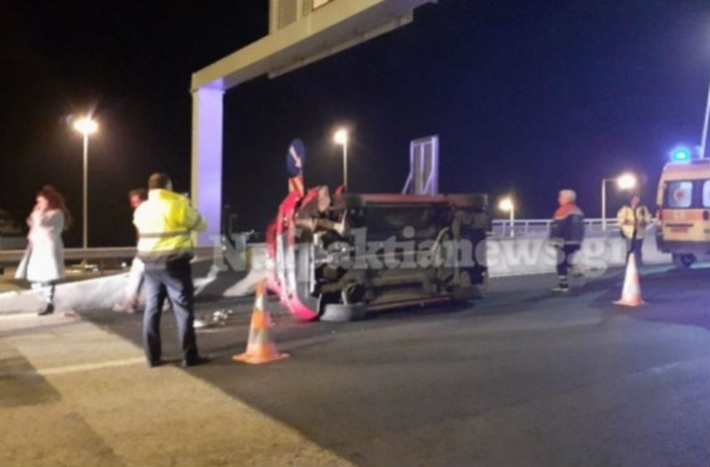 Σοκαριστικό βίντεο από τροχαίο στη γέφυρα Ρίου - Αντιρρίου!