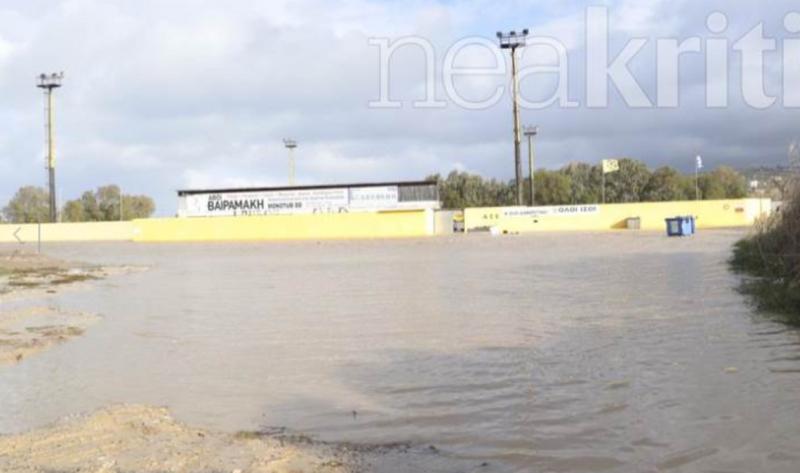 Γήπεδο ΑΕΚ: Καταστράφηκε από την κακοκαιρία