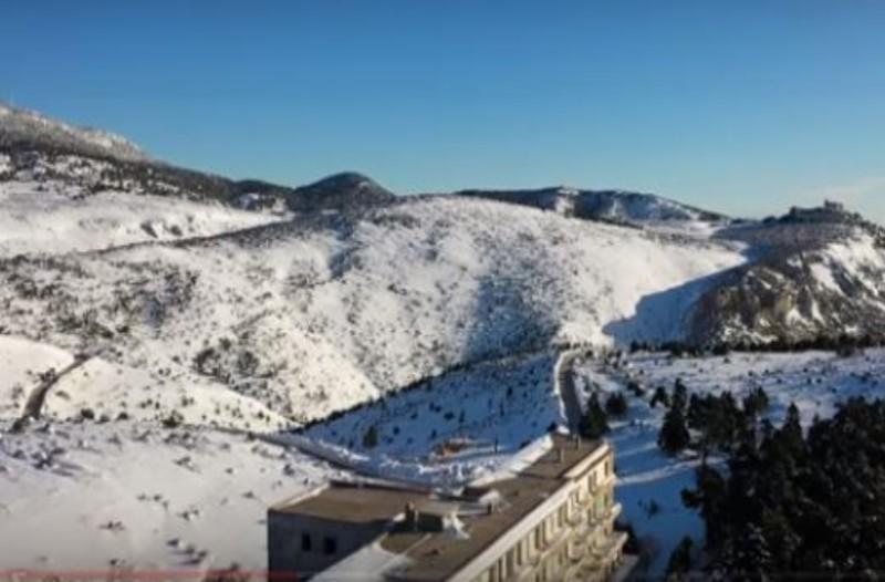 Πάρνηθα: Μαγευτικό τοπίο με χιόνια που θυμίζει... Άλπεις! (video)