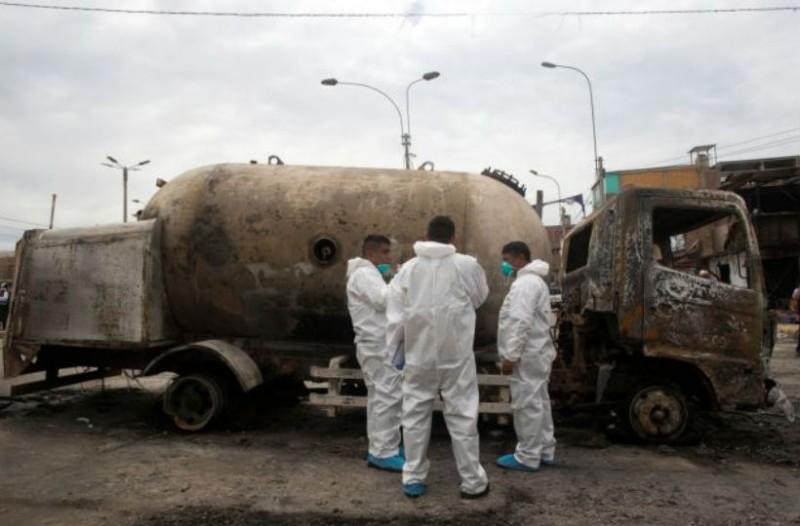 Σοκ στο Περού: 13 νεκροί από έκρηξη βυτιοφόρου!