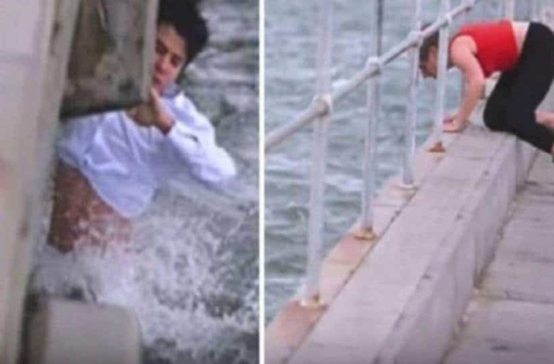 Πήγε να πετάξει τη στάχτη της γιαγιά του στη θάλασσα – Τότε βλέπει το απίστευτο και βουτάει δίχως δεύτερη σκέψη στο νερό! (Video)