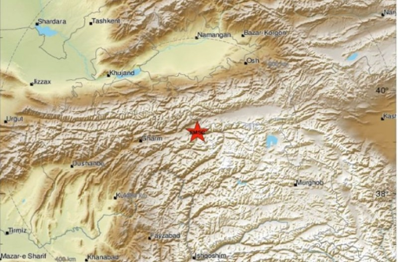 Σεισμός 5,7 Ρίχτερ στο Τατζικιστάν!
