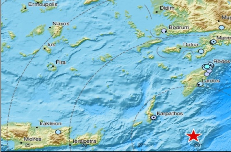 Σεισμός 5,9 Ρίχτερ στην Κάρπαθο!