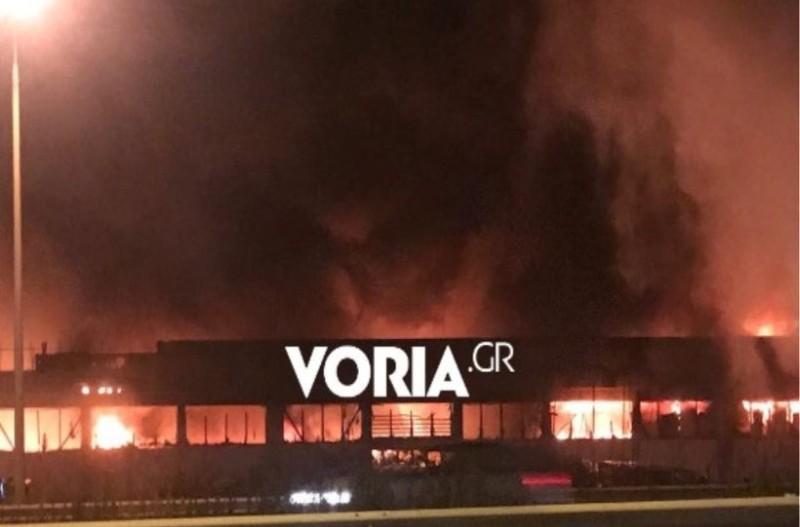 Θεσσαλονίκη: Μεγάλη φωτιά σε εργοστάσιο!