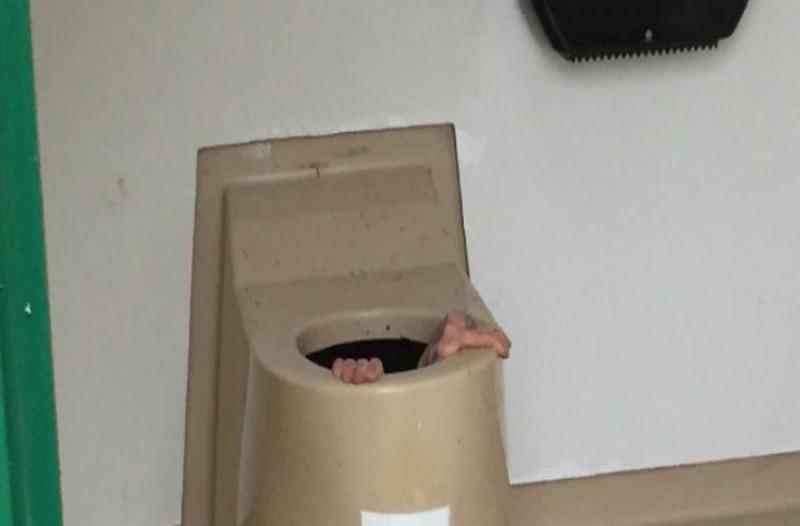 Σφήνωσε μέσα σε μια λεκάνη τουαλέτας καθώς προσπαθούσε να... Η συνέχεια σοκάρει!